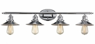 Trans Globe 20514-PC Griswald Contemporary Polished Chrome 4-Light Bathroom Vanity Light