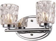 Trans Globe 20562-PC Brooks Modern Polished Chrome Halogen 2-Light Bath Sconce