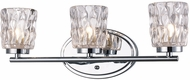 Trans Globe 20563-PC Brooks Contemporary Polished Chrome Halogen 3-Light Vanity Light Fixture