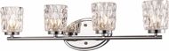 Trans Globe 20564-PC Brooks Modern Polished Chrome Halogen 4-Light Vanity Lighting Fixture