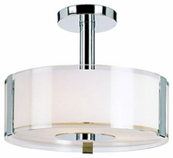 Trans Globe 2090-PC Halo Modern Polished Chrome Ceiling Light