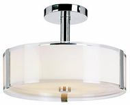 Trans Globe 2091-PC Halo Modern Polished Chrome Ceiling Light Fixture