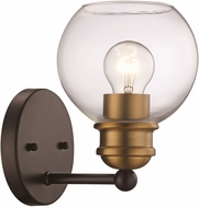 Trans Globe 22051-BK-AG Contemporary Black/Antique Gold Wall Light Sconce