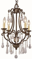 Trans Globe 3964 Traditional Antique Bronze Mini Chandelier Lighting