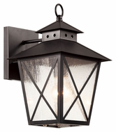 Trans Globe 40171 BK Medium Black Finish 13 Inch Tall Exterior Wall Lighting