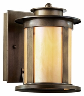 Trans Globe 40210 ABZ Honey Glass 9 Inch Tall Outdoor Wall Light Sconce - Small