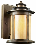 Trans Globe 40211 ABZ Antique Bronze Finish Honey Glass Exterior Sconce - Medium