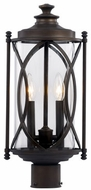 Trans Globe 40415-ROB Fiesta Rubbed Oil Bronze Exterior Lamp Post Light Fixture