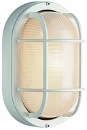 Trans Globe 41015-WH Aria Contemporary White Outdoor 11 Bulkhead Wall Mounted Lamp