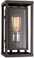 Trans Globe 50220-BK Showcase Contemporary Black + Brushed Nickel Outdoor 4.5 Wall Light Sconce