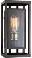 Trans Globe 50221-ROB Showcase Modern Rubbed Oil Bronze + Antique Brass Exterior 5.25 Wall Sconce Light