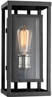 Trans Globe 50222-BK Showcase Contemporary Black + Brushed Nickel Outdoor 6 Wall Sconce