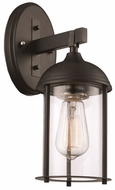 Trans Globe 50230-BK Blues Contemporary Black + Brushed Nickel Outdoor Light Sconce