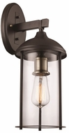 Trans Globe 50232-ROB Blues Modern Rubbed Oil Bronze + Antique Brass Outdoor Lamp Sconce