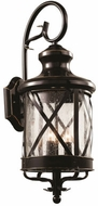 Trans Globe 5122-ROB Chandler Modern Rubbed Oil Bronze Outdoor 10.75 Lighting Sconce