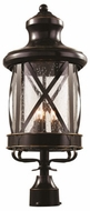 Trans Globe 5125-ROB Chandler Traditional Rubbed Oil Bronze Exterior Lighting Post Light