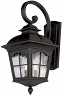 Trans Globe 5424-BK Briarwood Traditional Black Outdoor Wall Light Sconce