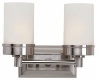 Trans Globe 70332 BN 2 Lamp Brushed Nickel 11 Inch Wide Bath Sconce