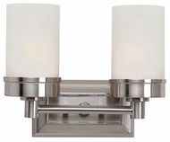 Trans Globe 70332-BN Fusion Contemporary Brushed Nickel 2-Light Bathroom Light Sconce