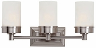 Trans Globe 70333-BN Fusion Modern Brushed Nickel 3-Light Bathroom Lighting Sconce