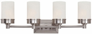 Trans Globe 70334-BN Fusion Contemporary Brushed Nickel 4-Light Bathroom Sconce Lighting