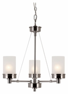 Trans Globe 70337 BN Small 3 Lamp Transitional Brushed Nickel Chandelier Lighting