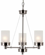 Trans Globe 70337-BN Fusion Modern Brushed Nickel Mini Chandelier Lamp
