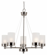 Trans Globe 70338 BN Medium Transitional 28 Inch Diameter 5 Lamp Hanging Chandelier