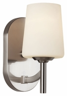 Trans Globe 70351 BN 9 Inch Tall Transitional Brushed Nickel Sconce Lighting