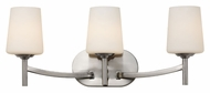 Trans Globe 70353 BN 22 Inch Wide Transitional 3 Lamp Vanity Lighting Fixture