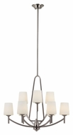 Trans Globe 70359 BN Brushed Nickel 9 Lamp Dining Room Chandelier - Transitional