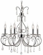 Trans Globe 70366-PC Chic Nouveau Traditional Polished Chrome Chandelier Lighting