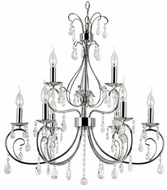 Trans Globe 70369-PC Chic Nouveau Traditional Polished Chrome Chandelier Light