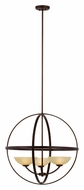 Trans Globe 70414 ABZ Small 25 Inch Diameter Antique Bronze Chandelier Light
