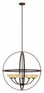 Trans Globe 70415 ABZ Large 5 Lamp 30 Inch Diameter Modern Lighting Chandelier
