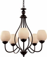Trans Globe 70535-ROB Rubbed Oil Bronze Chandelier Lamp