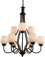 Trans Globe 70539-ROB Rubbed Oil Bronze Ceiling Chandelier