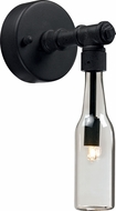 Trans Globe 70560 Bottles Vintage Black Halogen Wall Sconce