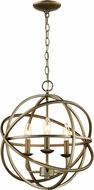 Trans Globe 70653-ASL Apollo Contemporary Antique Silver Leaf 16  Hanging Lamp