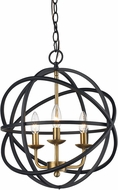 Trans Globe 70653-BK-AG Apollo Contemporary Black/Antique Gold 16  Pendant Lamp