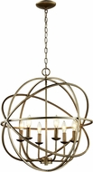Trans Globe 70656-ASL Apollo Contemporary Antique Silver Leaf 24  Hanging Pendant Lighting