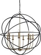 Trans Globe 70659-BK-AG Apollo Modern Black/Antique Gold 36  Pendant Lighting Fixture