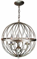 Trans Globe 70672-ASL Sequoia Contemporary Anique Silver Leaf 12  Hanging Pendant Light