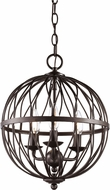 Trans Globe 70672-ROB Sequoia Contemporary Rubbed Oil Bronze 12  Pendant Hanging Light