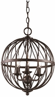 Trans Globe 70672-ROB Sequoia Modern Rubbed Oil Bronze 12  Pendant Hanging Light