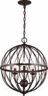 Trans Globe 70673-ROB Sequoia Modern Rubbed Oil Bronze 16 Hanging Light Fixture