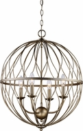 Trans Globe 70674-ASL Sequoia Contemporary Rubbed Oil Bronze 20  Drop Lighting