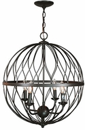 Trans Globe 70674-ROB Sequoia Modern Rubbed Oil Bronze 20  Drop Lighting