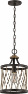 Trans Globe 70690-ROB Tahoe Modern Rubbed Oil Bronze Mini Drum Drop Ceiling Lighting