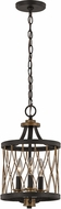 Trans Globe 70695-ROB Tahoe Contemporary Rubbed Oil Bronze Mini Drum Ceiling Light Pendant